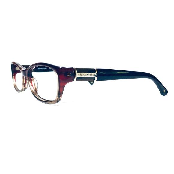 Michael Kors Clear Brown Wayfarer Glasses